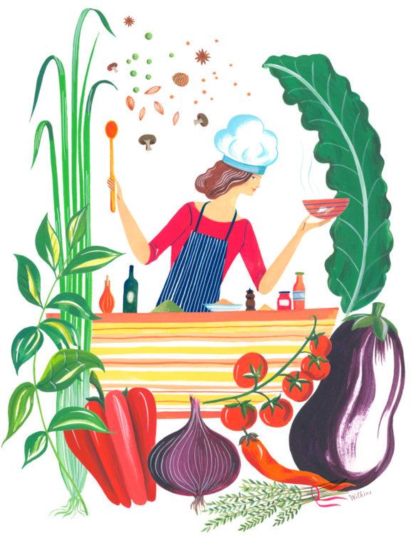 Sarah_Wilkins_illustration_illustrator_vegetables_diet