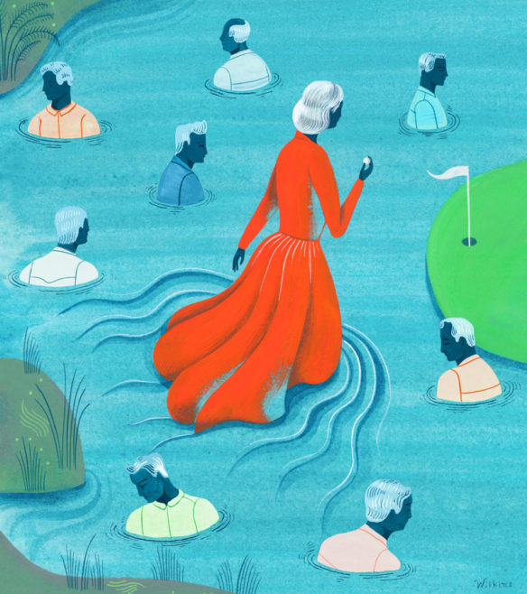 Sarah Wilkins illustration about dating for seniors for Los Angeles Times